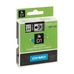 CINTA LAMINADA DYMO 40910 TRANSPARENTE/NEGRO 9mm