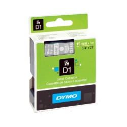 CINTA LAMINADA DYMO 45810 TRANSPARENTE/BLANCO 19mm
